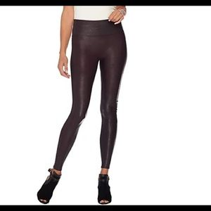 Spanx faux leather leggings high waist size Small
